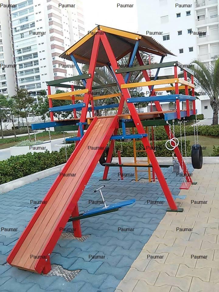 Brinquedo de Parque - Multibrinquedo de madeira - Paumar Brinquedos